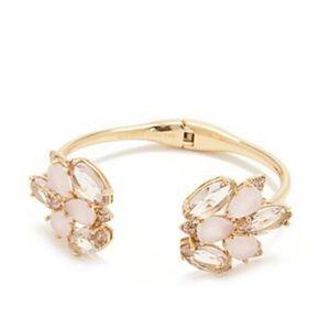 Kate Spade Blushing Blooms Hinged Cuff Bracelet